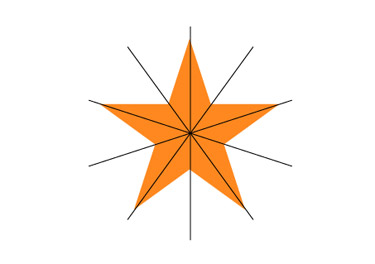 Align the star in centre and the line group horizontally