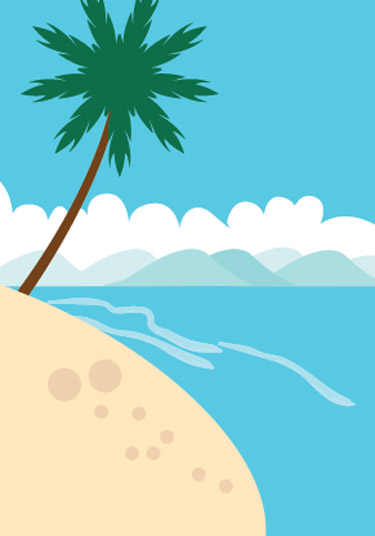 Drawing a Pacific Scene Using Illustrator CS3 has be implemented