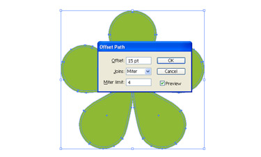 Know how to create a border for a flower