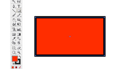 Draw a rectangle using the Rectangle tool.