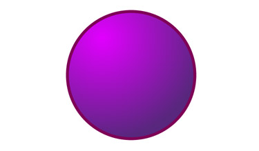 use a circle having a simple gradient and stroke