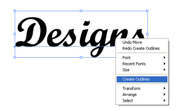 you can use is to right click on the text and hit on 'Create Outlines'.