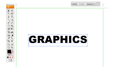 Choose a font of your liking and type some text with the Type tool.