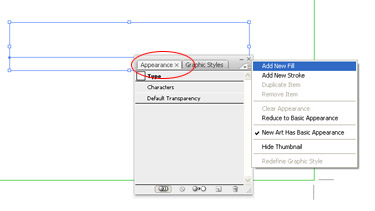 The action of adding the fill one more time. This way you will get two fills in total in the Appearance panel.