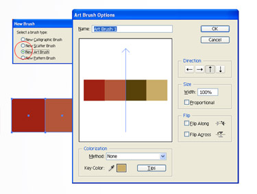 Select all the coloured squares and click the New Brush icon in the Brushes palette