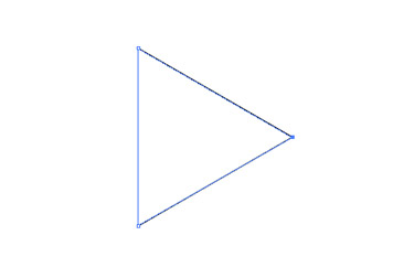 Select the Pen tool and draw a triangle.