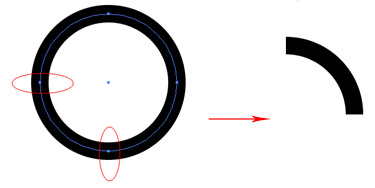 To make the real RSS symbol, draw a circle and add a black stroke. Make the circle a broad ring by increasing the stroke.