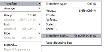 Select all the rectangles and navigate to Object