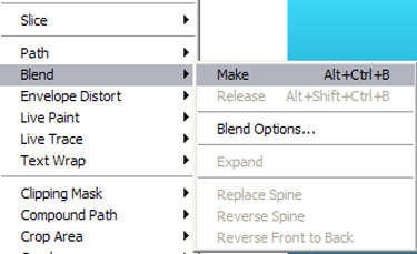 move to Blend Options