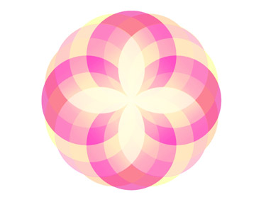 Creating a Diamond Flower using Illustrator Has Be Implemented.