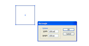 Draw a square using rectangle tool
