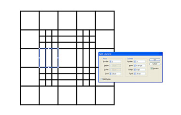 Splitting the grid squares into 3 columns
