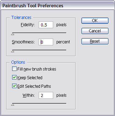 Double-click on the brush and change the Fidelity