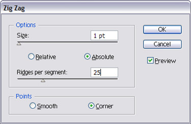 use the following settings in the Zig Zag window.