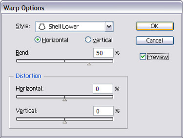 To select option shell lower