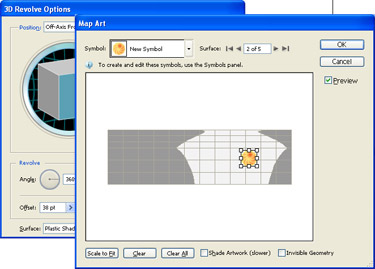 create multi-surface Map Art by choosing the Surface and then the Symbol.