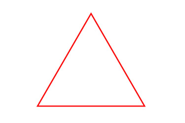 making a perfect Triangle path in illustrator has be implemented