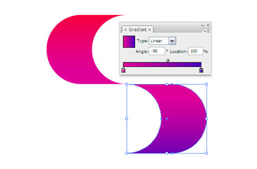 Apply a new gradient by adjusting the bottom colour.