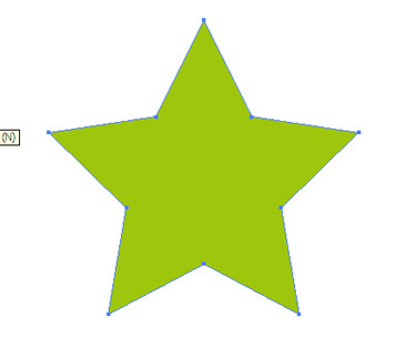 Draw a star with the Star Tool.