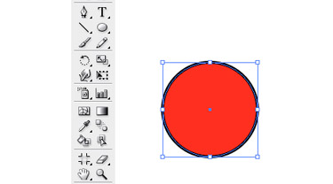 Select the Rectangle Tool and draw circle.