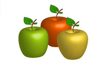 You can use Copy & Paste to duplicate the apple.