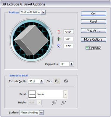 Select the Effects into 3D  Extrude & Bevel.