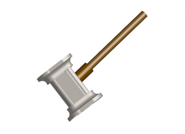 3d Hammer Using Illustrator Has Be implemented