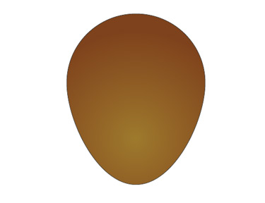Choose the egg shape and make a radial gradient