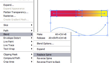 Navigate to Object to Blend and to replace spine