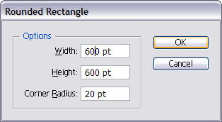 Choose the Rounded Rectangle tool from the Rectangle tool list.