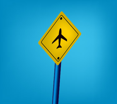 Creating a Sign Post using the Mesh Tool and 3D Effects Has Be Implemented