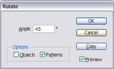 Choose Transform to Rotate. When the Rotate Dialog Box appears