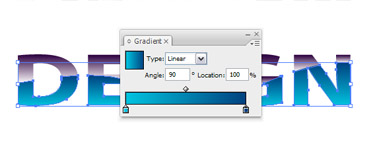Use the same step for the other part and fill with gradient tool