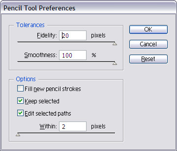 open the Pencil tool preference pane, double click on the Pencil tool. Set the amount of smoothness you like to get.