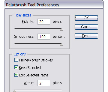 The Paintbrush Tool has the same options which you can use instead of the Pencil.