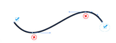 Position anchor points on a curve where the paths begin to change direction, not in the middle of its curve.