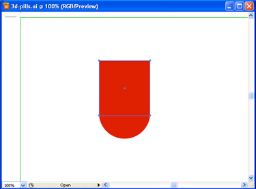 Use the Rectangle Tool to draw a rectangle. Make sure that it overlaps the circle.