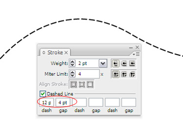 Open the Stroke Palette from Window to select Stroke. Draw a line and choose it