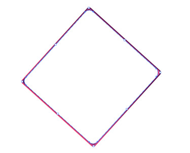 Draw a large flat oval shape over the entire graphic.