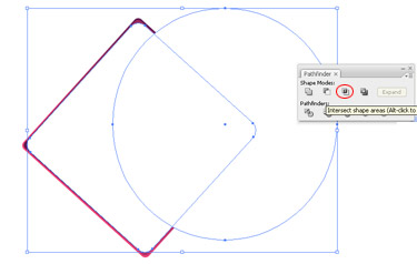 Draw a large flat oval shape over the entire graphic. Closely observe the overlapping of the bottom curve with the white rectangle