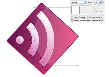 reduce the Opacity of the shape