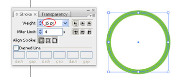 need to choose the Ellipse tool and draw a circle by holing the Shift key while dragging to obtain the perfect shape.
