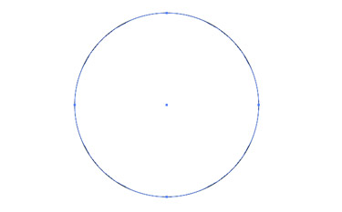 By using the Ellipse tool create a circle.