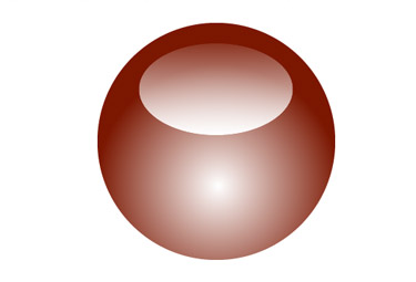 The gradient's luminosity values have became a mask for the white rectangle, and thus creating a light reflection on the underlying circle