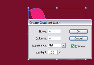 Select create gradient mesh to it.