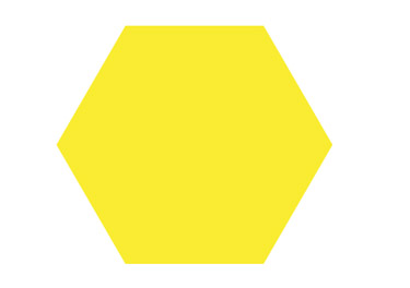 draw a polygon with the Polygon tool. Provide the polygon with a bright yellow fill.