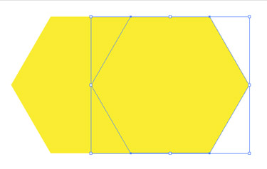 Select the middle left point of the polygon.