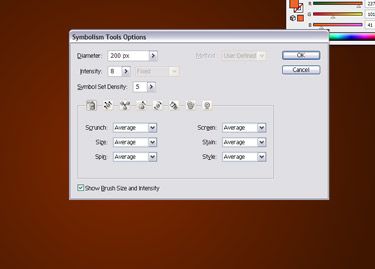 Double-click on the Symbol Sprayer Tool.
