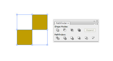 Make two squares and use Add to Shape Area placed under Pathfinder.