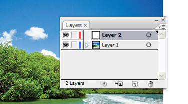 Lock this layer and create a new layer.
